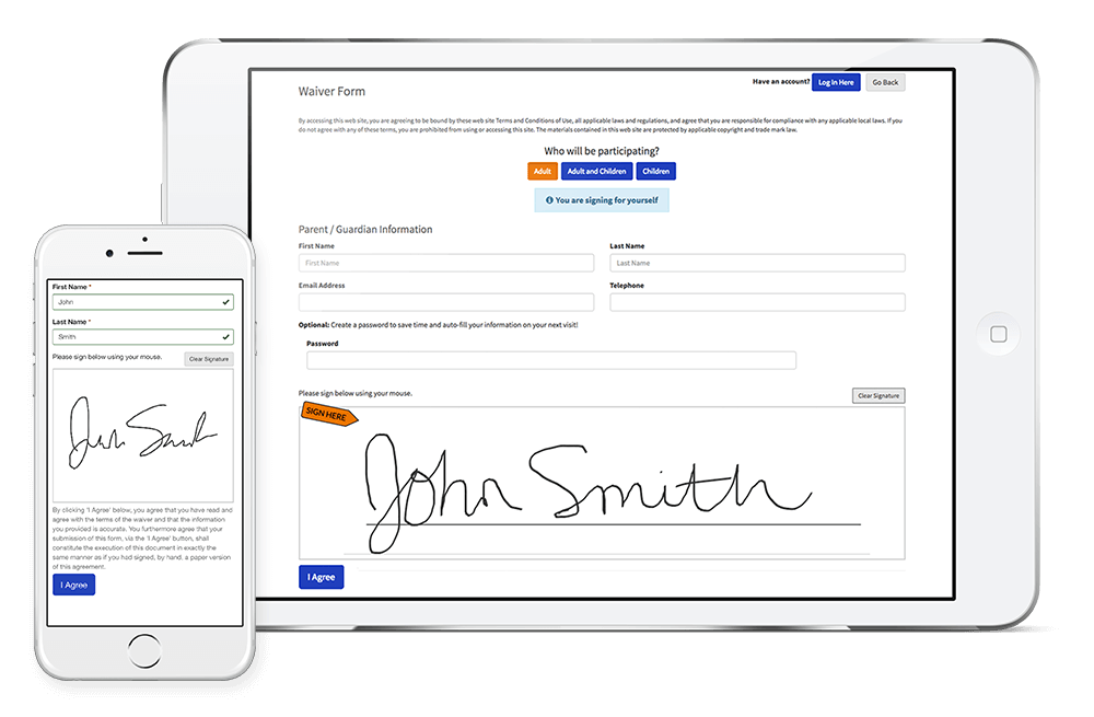 Sign Waivers on Any Device